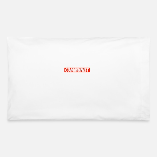 Communist Pillow Cases - COMMUNIST - Pillowcase 32'' x 20'' white