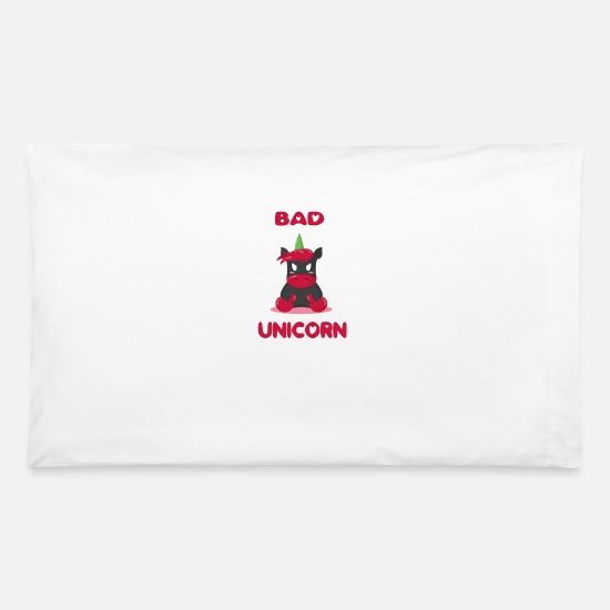 "Bad Boy Pillow Cases - Bad Unicorn ""limited"" ideal as gift - Pillowcase 32'' x 20'' white"