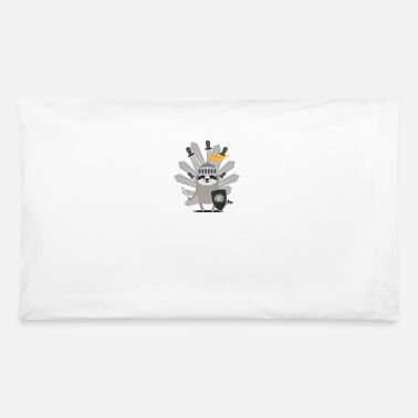 Knight Medieval Sloth King with swords - Pillowcase 32'' x 20''