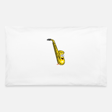 Kind Saxophone Laughing HARIZ Instruments Children Laug - Pillowcase 32'' x 20''