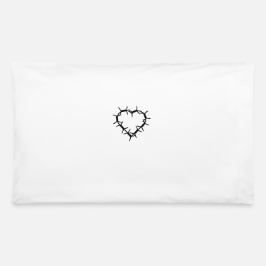 Barbed Wire barbed wire heart - Pillowcase 32'' x 20''