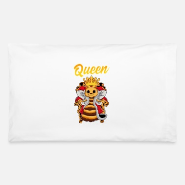 Honeycomb Queen Bee in a Throne - Pillowcase 32'' x 20''