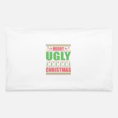 Pattern Merry Ugly Christmas Funny Saying Xmas - Pillowcase
