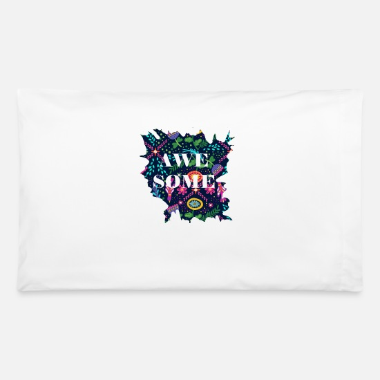 Some Pillow Cases - awe some - Pillowcase 32'' x 20'' white