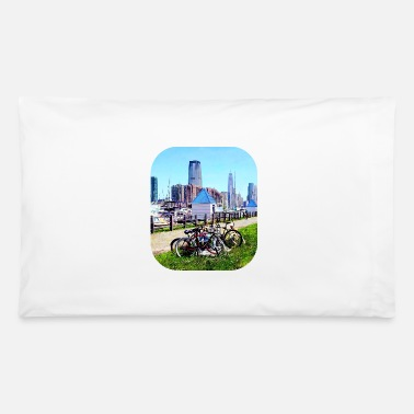 Liberty State Park - Parked Bicycles - Pillowcase 32'' x 20''