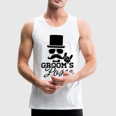 Groom Wedding Marriage Stag night bachelor party - Men's Premium Tank
