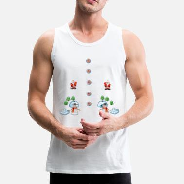 christmas snowmans Scene Father Christmas - Men's Premium Tank