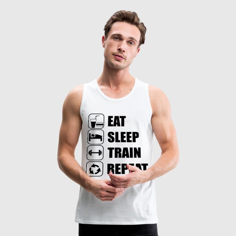 Eat Sleep Train Repeat - Men's Premium Tank
