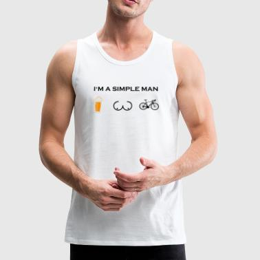 simple man boobs bier beer titten rennrad cycling - Men's Premium Tank
