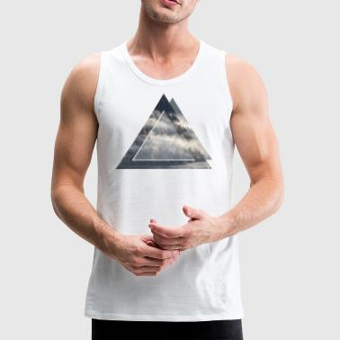 Geometric Frog and Forest - Men's Premium Tank