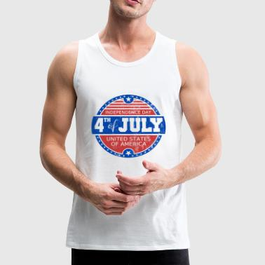 USA Independence Day 4th July Fourth Celebration - Men's Premium Tank