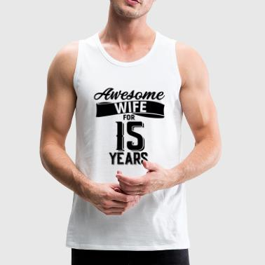 wedding anniversary 15 years - Men's Premium Tank