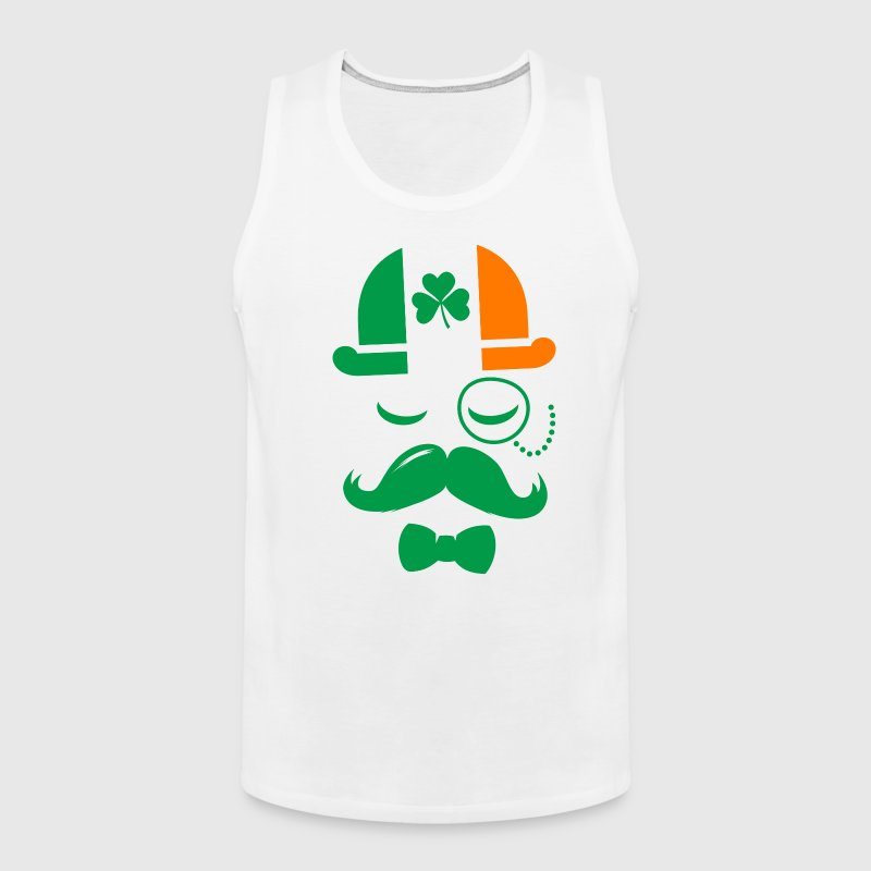i love ireland irish shamrock St. Patrick's Day - Men's Premium Tank