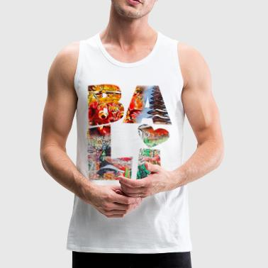 Bali BALI COLLAGE TYPOGRAPHY - Men's Premium Tank