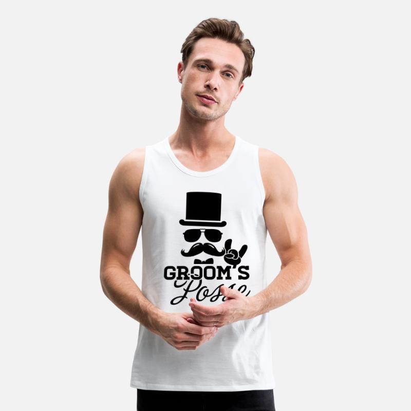 52f27e8ee1ffc Party Tank Tops - Groom Wedding Marriage Stag night bachelor party - Men s  Premium Tank Top