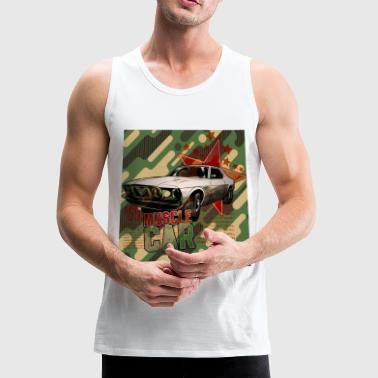 Muscle Dogs VINTAGE MUSCLE CAR ARMY - Men's Premium Tank