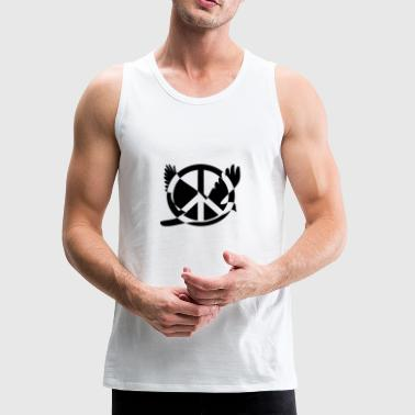 peace sign - Men's Premium Tank