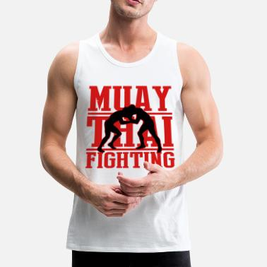 Thai Boxing martial arts: muay thai fighting - Men's Premium Tank