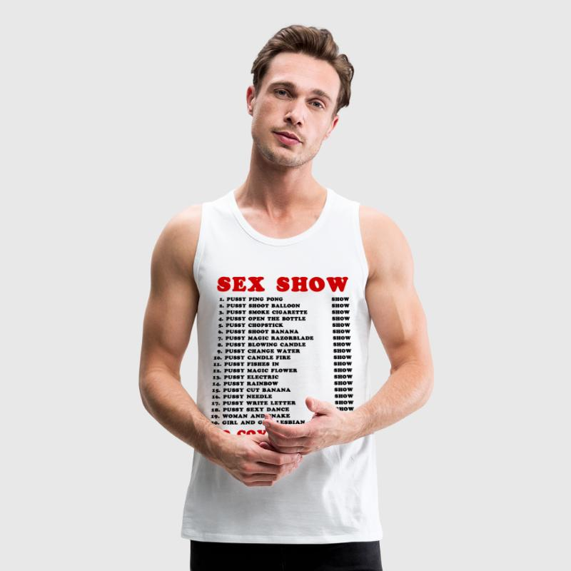 Bangkok Red Light Ping Pong Sex Show - Men's Premium Tank