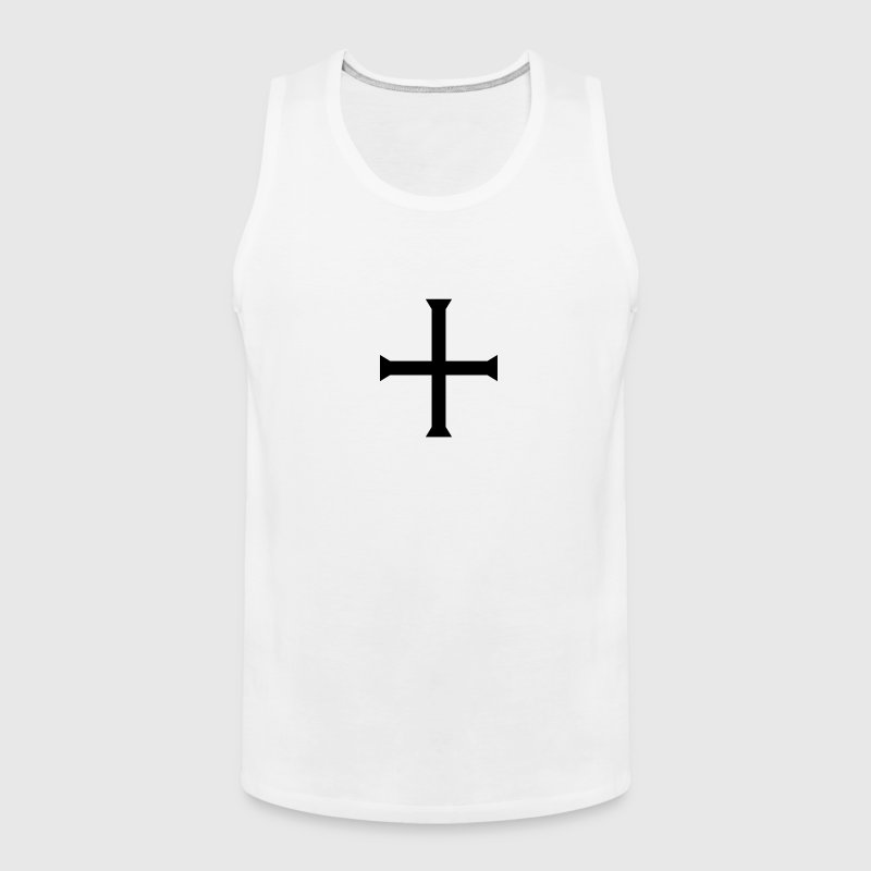 medieval gothic square cross  - Men's Premium Tank