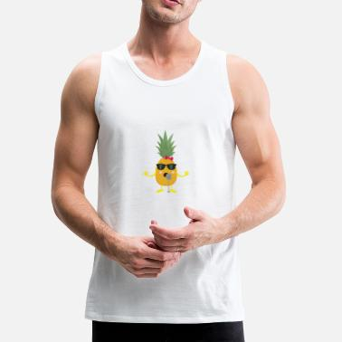 Pineapple Singing Pineapple - Men's Premium Tank
