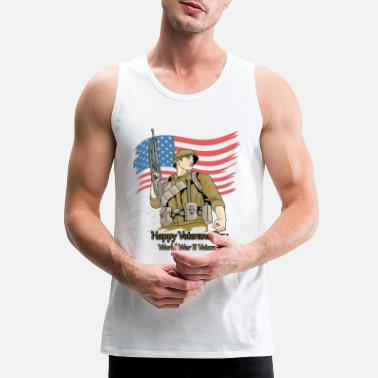 Men's Premium T-Shirt happy veterans day 2020 - Men's Premium Tank Top