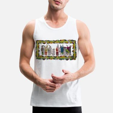 Fool vers-ace 1991 commedia dell' arte print - Men's Premium Tank