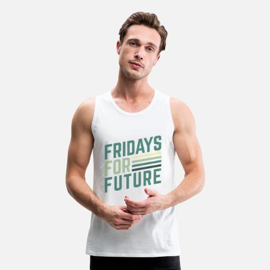 Climate Tank Tops - Fridays for Future Earth Climate - Men's Premium Tank Top white