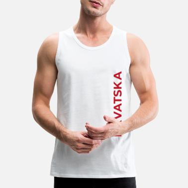 Side Text From Croatia with Love - Text Hrvatska side color - Men's Premium Tank Top
