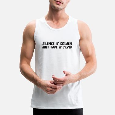 Ageplay Silence is Golden, Duct Tape is Silver product - Men's Premium Tank Top