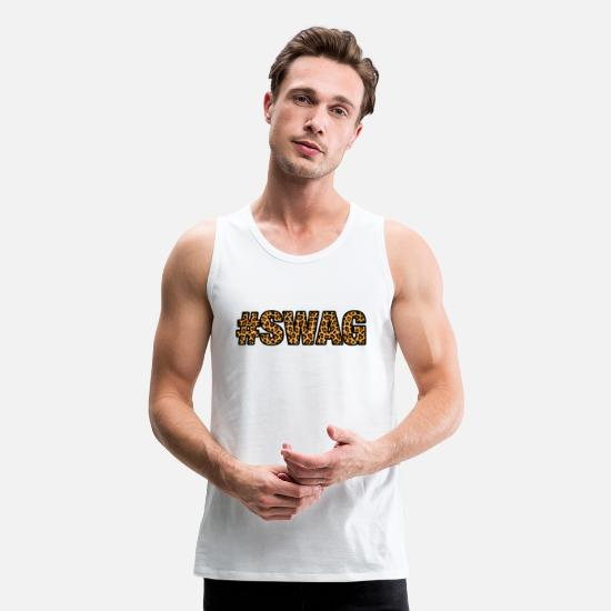 Leopard Tank Tops - Swag - Men's Premium Tank Top white