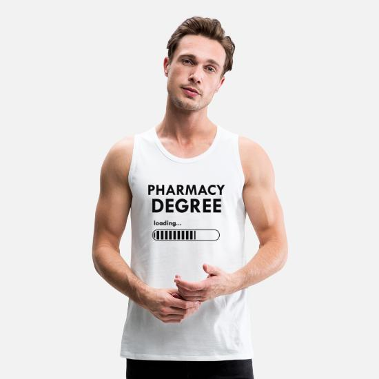 Pharmacy Tank Tops - Pharmacy degree loading Gift - Men's Premium Tank Top white