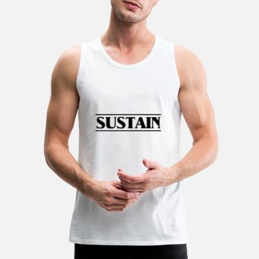 Sustainable sustain black - Men's Premium Tank Top