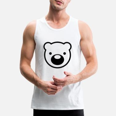 Bear Cute bear head - Men's Premium Tank