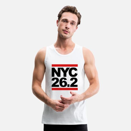 Marathon Tank Tops - NYC 26.2 - Men's Premium Tank Top white