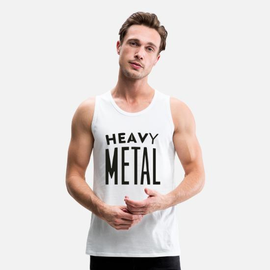 Metal Toy Tank Tops - Heavy Metal - Men's Premium Tank Top white