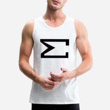 Sum Sign , Total , Summation, Fabspark - Men's Premium Tank Top