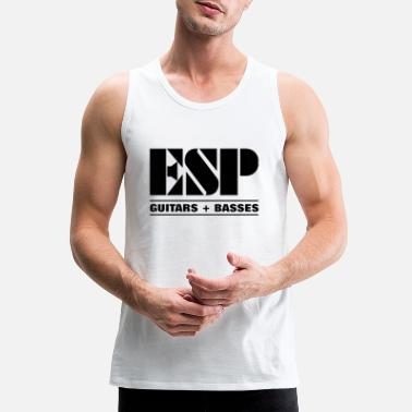 Esp Guitar ESP LOGO GUITARS BASSES - Men's Premium Tank Top