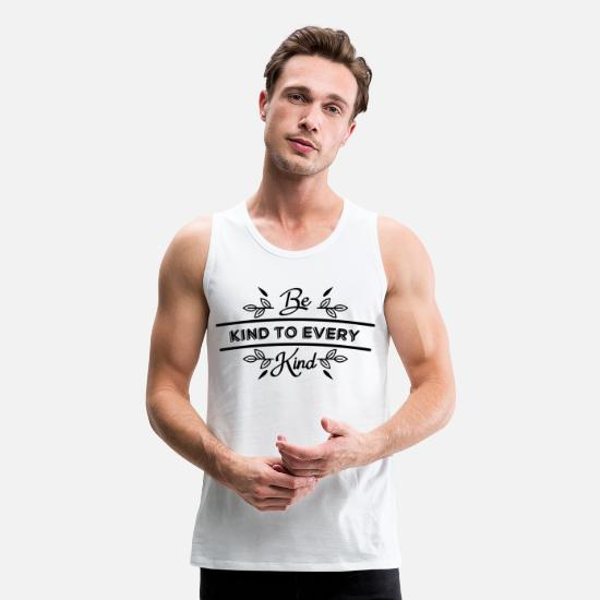 Plant Tank Tops - Vegetarian Kindness Black Cool Gift - Men's Premium Tank Top white