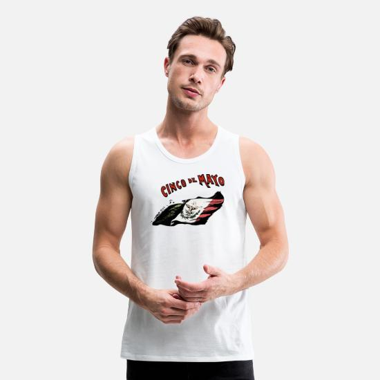 Mexican Tank Tops - cinco de mayo - Men's Premium Tank Top white