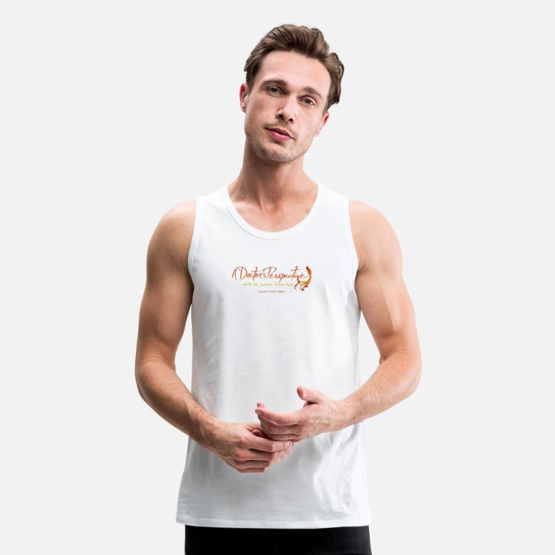 Chiropractic Tank Tops - A Doctor's Perspective Podcast Logo - Men's Premium Tank Top white