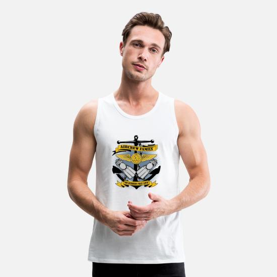 Navy Tank Tops - U.S. Navy Search and Rescue Swimmer Logo - Men's Premium Tank Top white