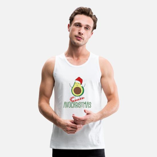 Christmas Tank Tops - Avochristmas - Men's Premium Tank Top white