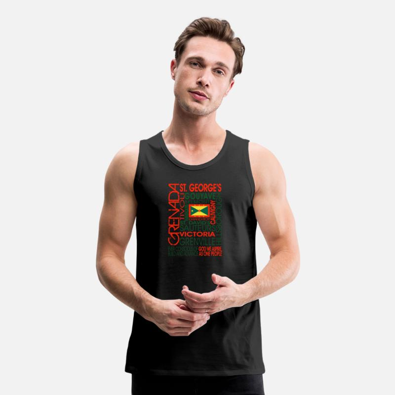 OC Grenada Men's Premium Tank - black
