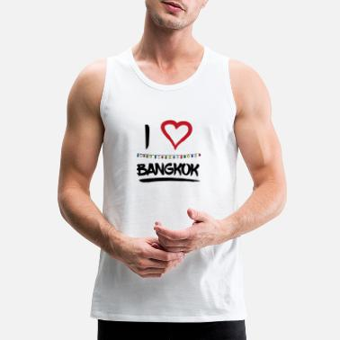 I Love I love Bangkok Thailand fullmoon party Gift - Men's Premium Tank Top