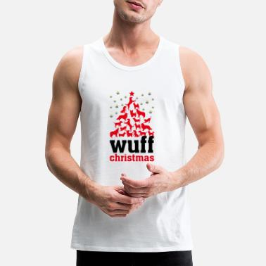 merry christmas dog - Men's Premium Tank Top