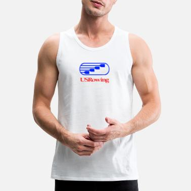 Us Rowing Team USA Rowing US - Men's Premium Tank