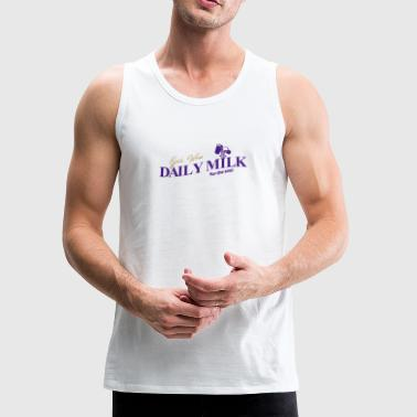 Daily Milk Christian T Shirt color in white - Men's Premium Tank