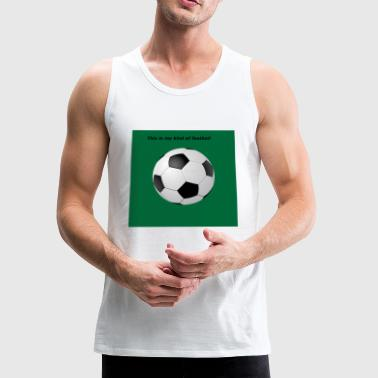 Soccer ball with green background - Men's Premium Tank