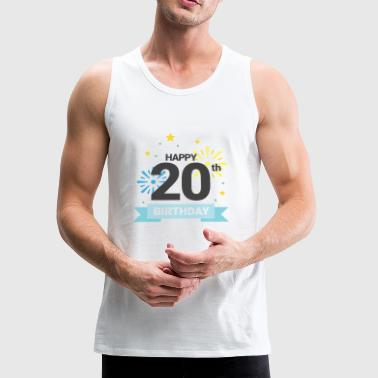 Happy 20th Birthday - Men's Premium Tank